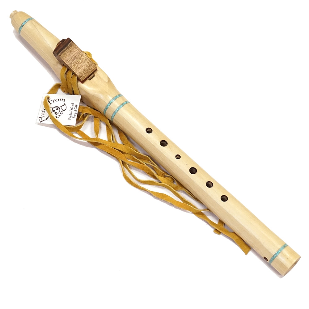 Native American Style Flute Made From Poplar Wood