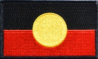 Australian Aboriginal Flag Embroidered Patch